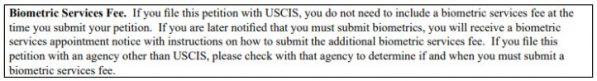 the uscis sometimes calls you into the biometrics service and it costs