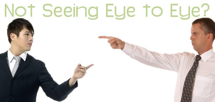 Not seeing eye to eye?