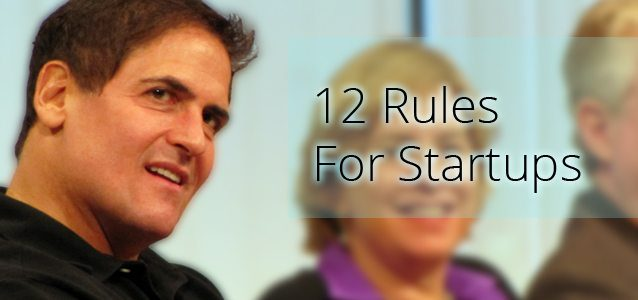 12 Rules For Startups