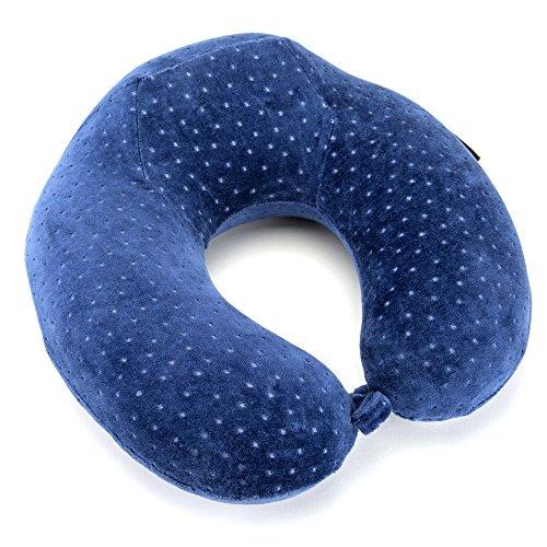 Almohada de Viaje de Espuma Viscoelástica – Reposacabezas patentado para vuelos y viajes, diseñado ergonómicamente con una funda suave de terciopelo transpirable, fácil de lavar – Neck pillow – Almohada relajante para el cuello de Opul