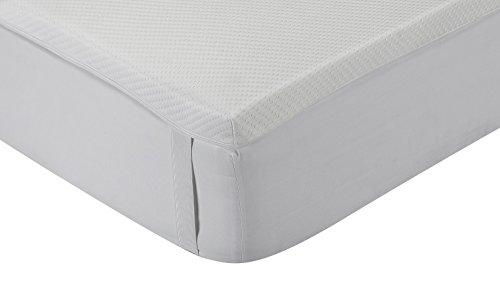 Classic Blanc – Topper / sobrecolchón viscoelástico confort plus, firmeza media, 150 x 190 cm, altura 5 cm, cama 150