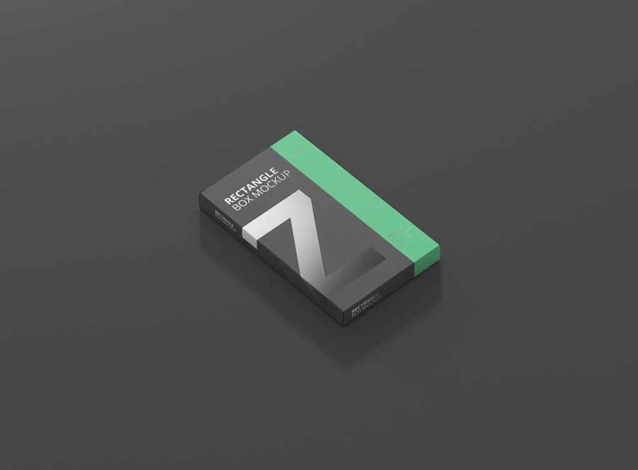 Download Box Mockup Medium Size Flat Rectangle - Premium and Free ...