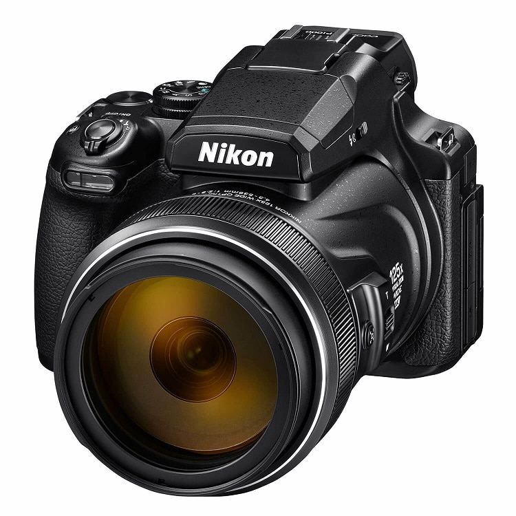 review Nikon Coolpix P1000 compact camera Zwart visdief
