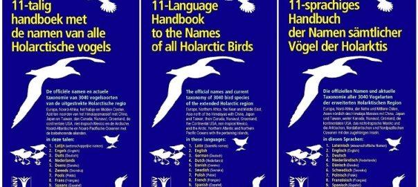 11 talig handboek met de namen van alle Holarctische vogels