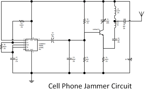 how to make cell phone jammer circuit