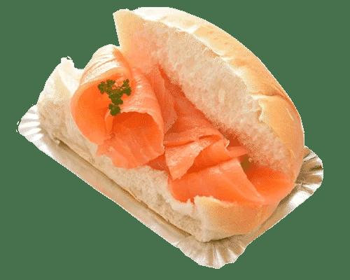 Broodje gerookte zalm