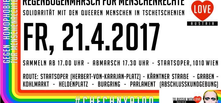 Aufruf zur Solidarität mit queeren Menschen in Tschetschenien – Demonstration