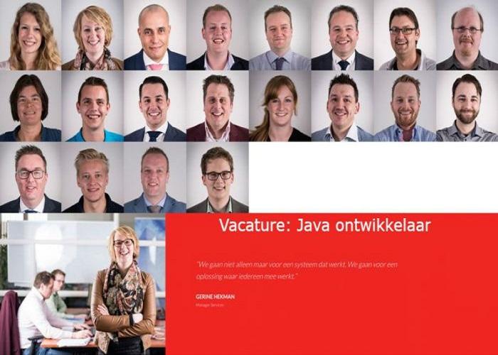 Vacature Java ontwikkelaar
