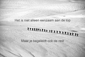 Eenzaam aan de top