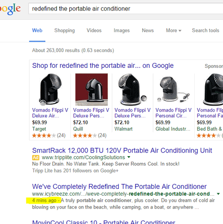 New Article Found in 4 Minutes on Google