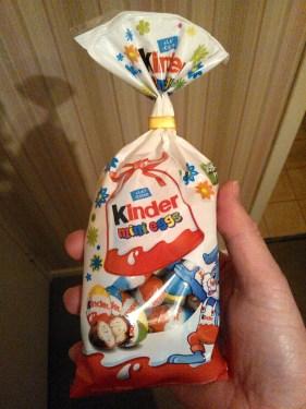 Kinder Mini Eggs dans leur emballage
