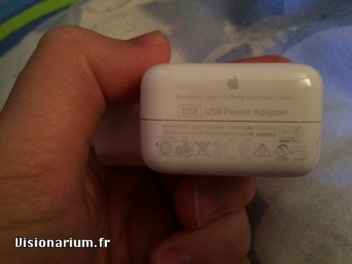 test chargeur Aukey sur Amazon : fond chargeur Apple 10 W