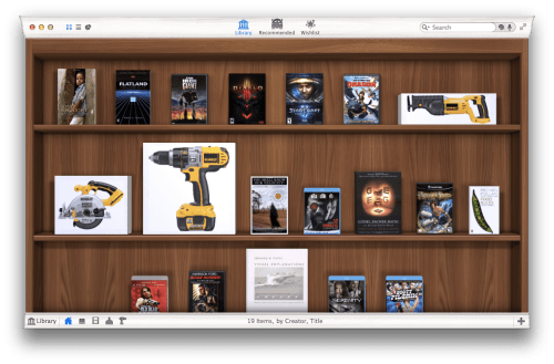 Interface de Delicious Library 3. Photo : Ars Technica.