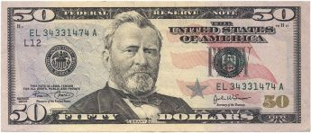 $50 Series 2004 Note Front