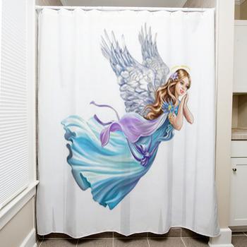 beautiful angel shower curtain