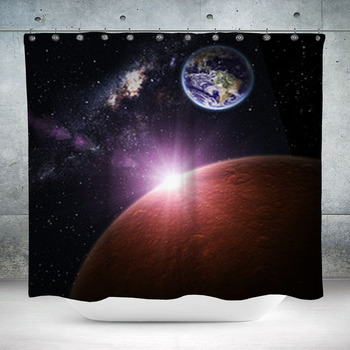beautiful space background custom size shower curtain