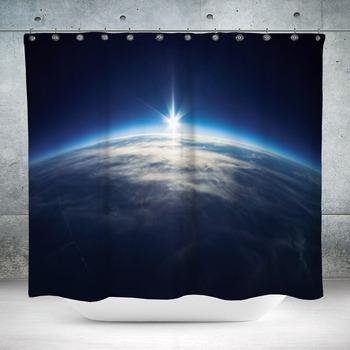 near space photography 20km custom size shower curtain