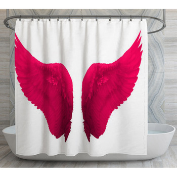 pink wing shower curtain