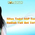 Situs Togel SGP Terbaik Dengan Hadiah Full Bet Terbesar 2021