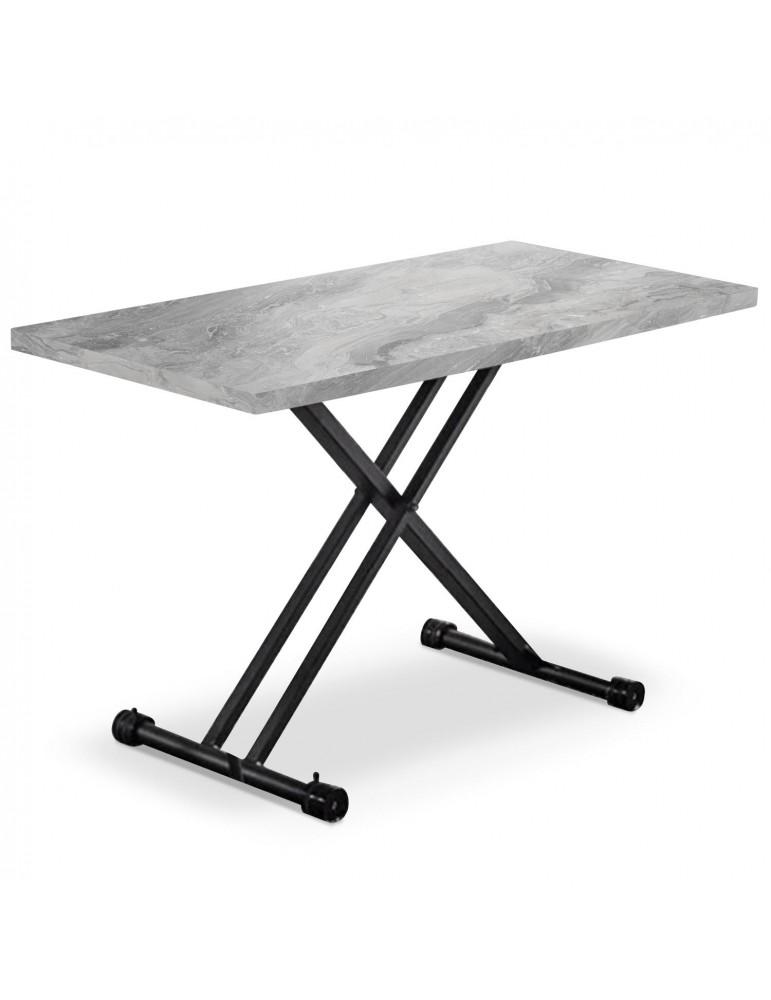 table basse relevable duke effet marbre gris