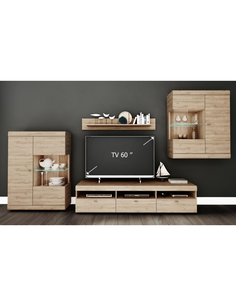 ensemble meuble tv alfaro chene clair