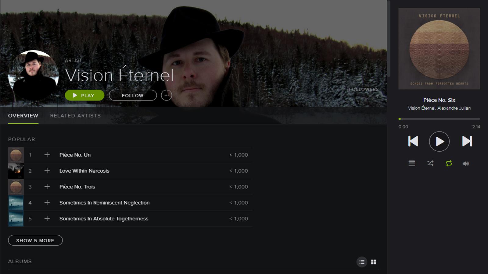 Follow Vision Éternel On Spotify