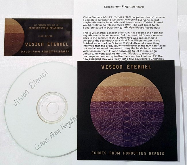 Vision Éternel Echoes From Forgotten Hearts Compact Disc