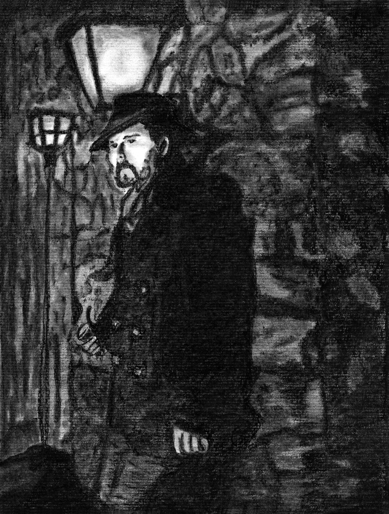 Vision Eternel Charcoal Sketch By Rain Frances
