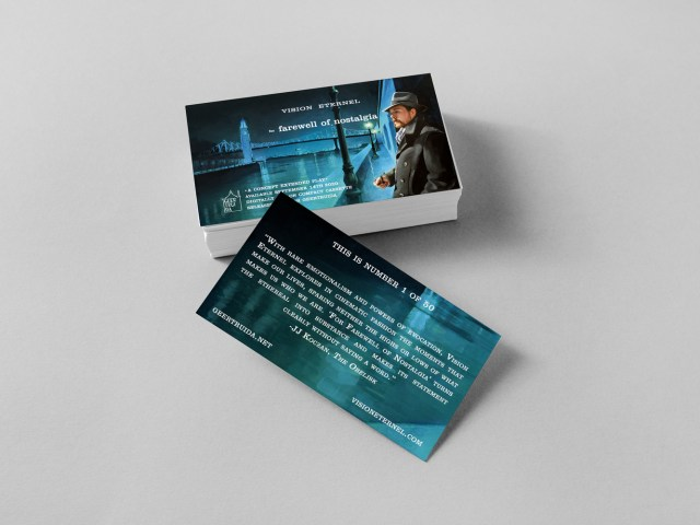Vision Eternel For Farewell Of Nostalgia Business Cards Mockup