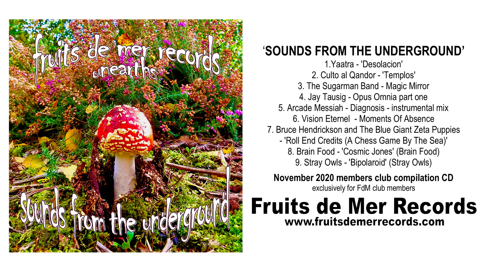 Fruits De Mer Records Unearths: Sounds From The Underground Compilation Is Released