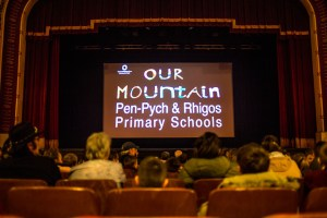 The opening of the Arts Council Wales, Creative Lead Schools project (Creative Collaboration) with Rhigos Primary School and Pen-Psch primary conducted by Vision Fountain CIC. Photo by Chieko Jones for Vision Fountain.