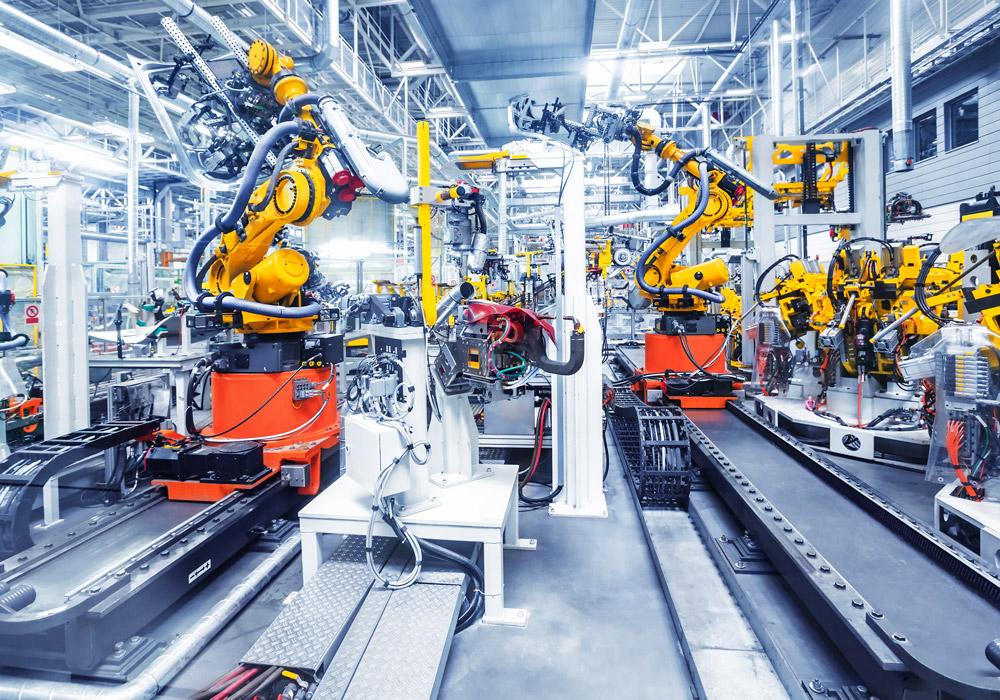 Chaine de production automatisée dans le secteur automobile