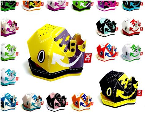 Shin Tanaka  WS  Sneaker Paper Toy 3
