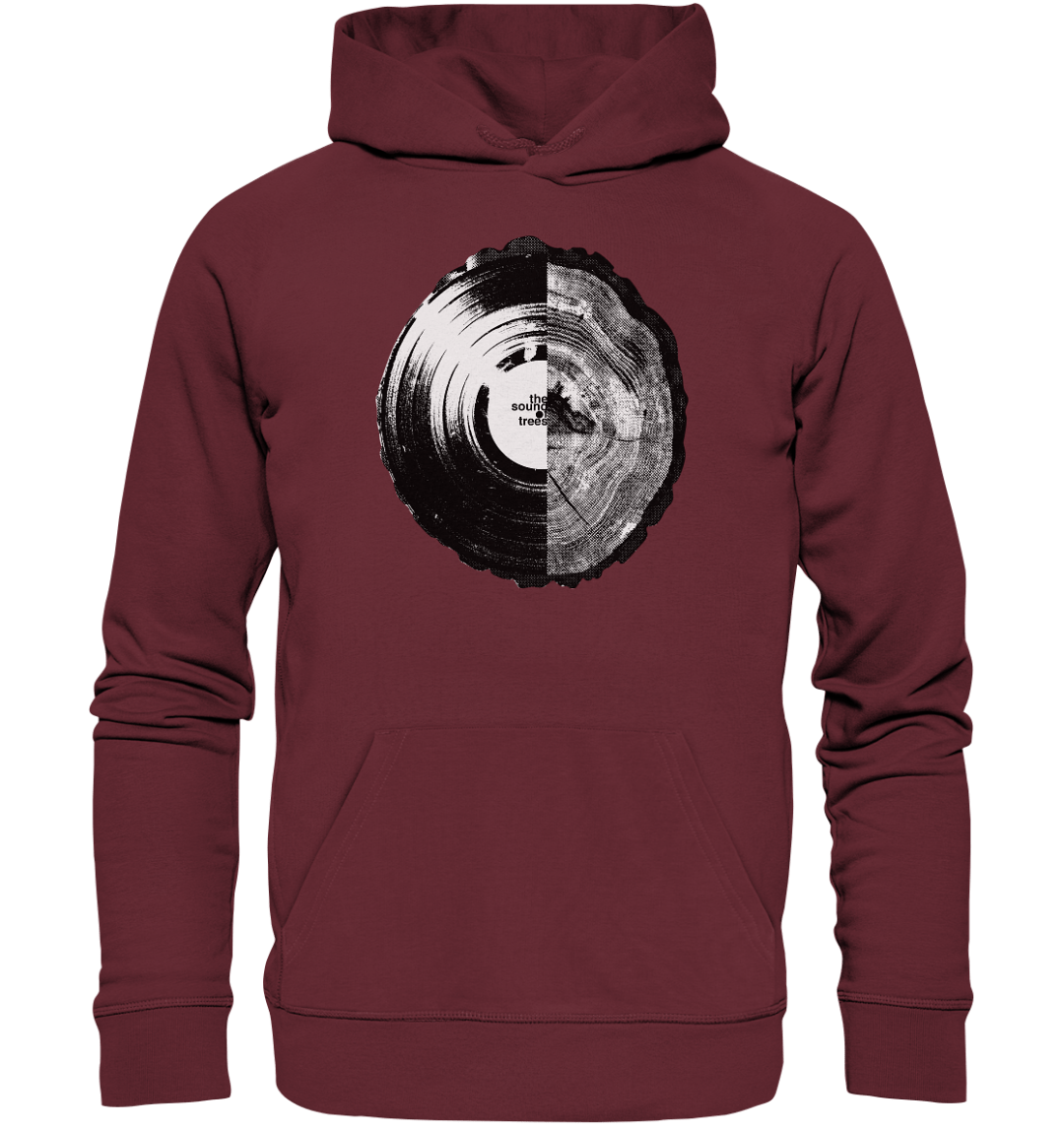 front organic hoodie 672b34 1116x 2 Sound of Trees - Organic Hoodie