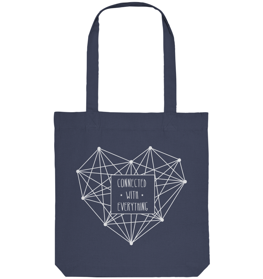 front organic tote bag 42475c 1116x 4 Connected with Everything - Jutebeutel aus recycelter Baumwolle