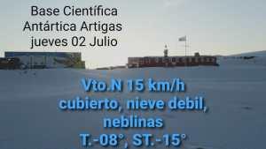 Gentileza de la Base Antártica Artigas