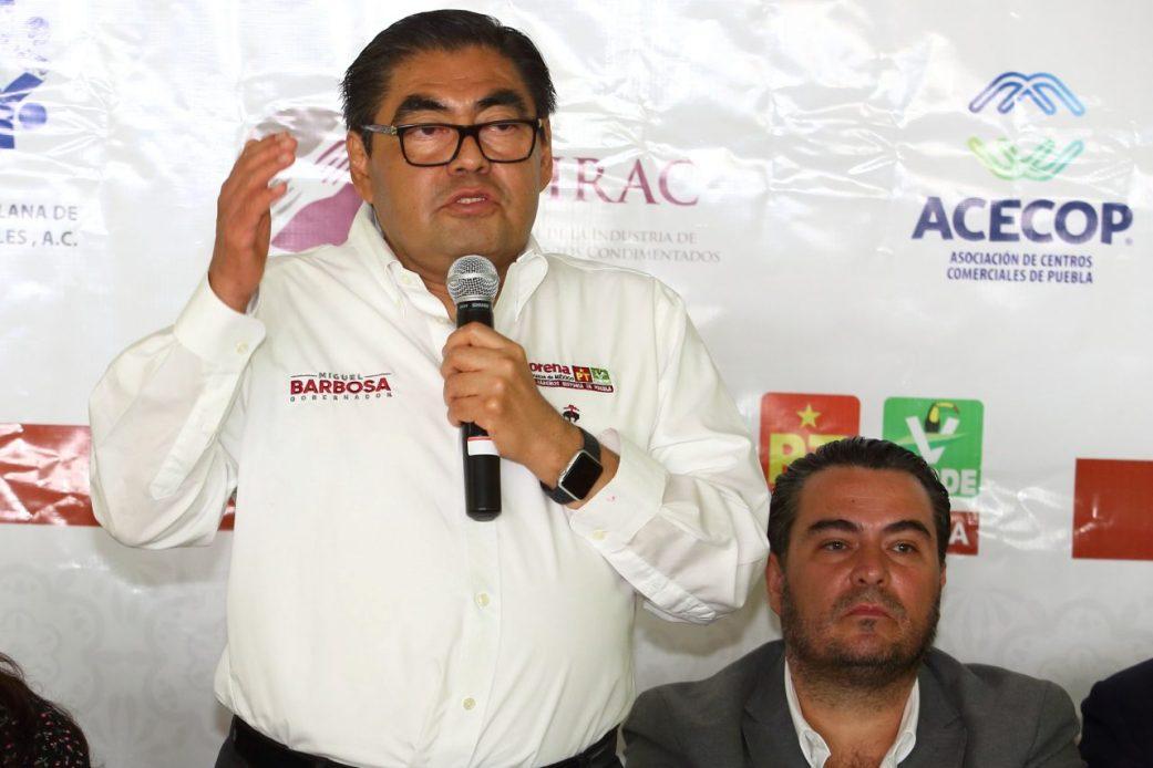 EL PRESUPUESTO DE PUEBLA SE QUEDARÁ PARA LOS EMPRESARIOS POBLANOS: BARBOSA HUERTA