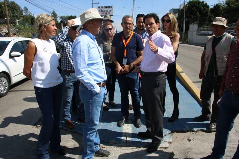 SE SUPERVISAN TRABAJOS DE «MI PUEBLA» EN EL BULEVAR ESTEBAN DE ANTUÑANO