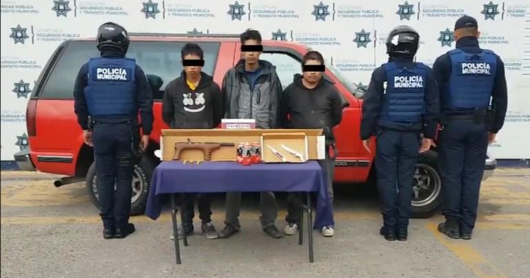 DETUVO SSC DE PUEBLA A TRES HOMBRES PRESUNTAMENTE DEDICADOS AL ROBO DE VEHÍCULO CON VIOLENCIA