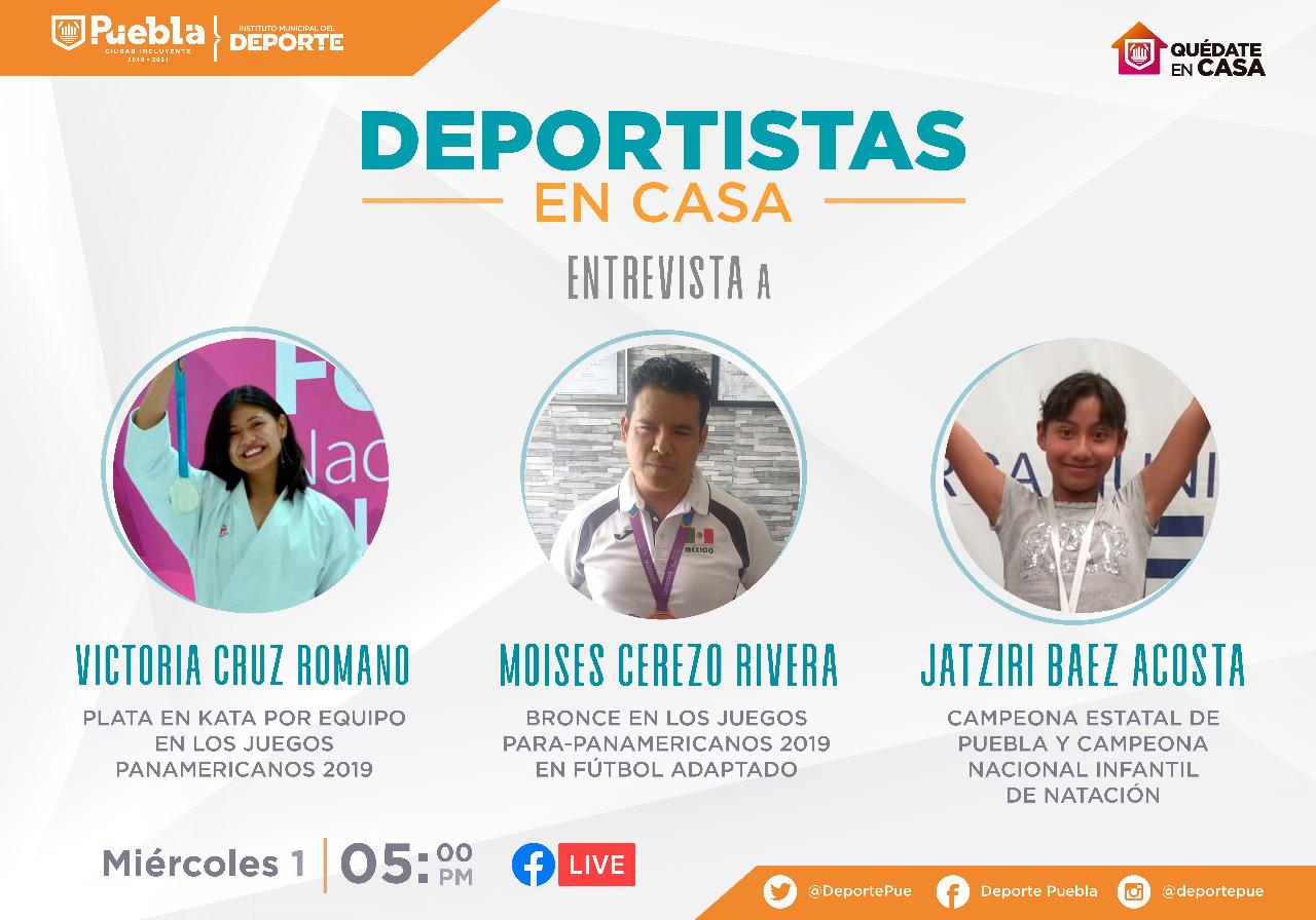DEPORTISTAS DEL PROGRAMA DE BECAS MUNICIPALES COMPARTIRÁN EXPERIENCIAS EN LÍNEA