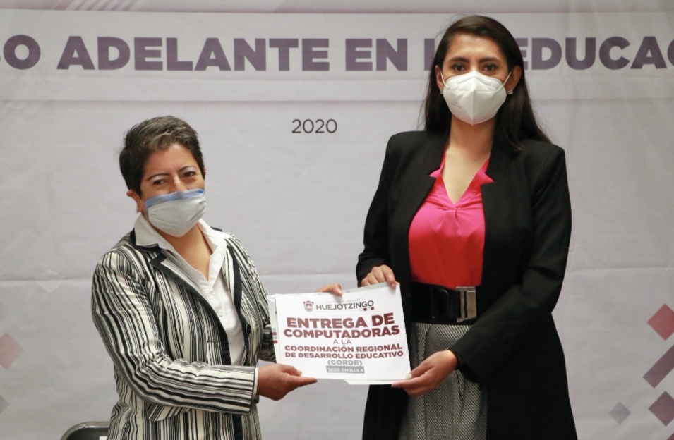 INAUGURA ANGÉLICA ALVARADO CURSO EN LÍNEA PARA DOCENTES DE HUEJOTZINGO