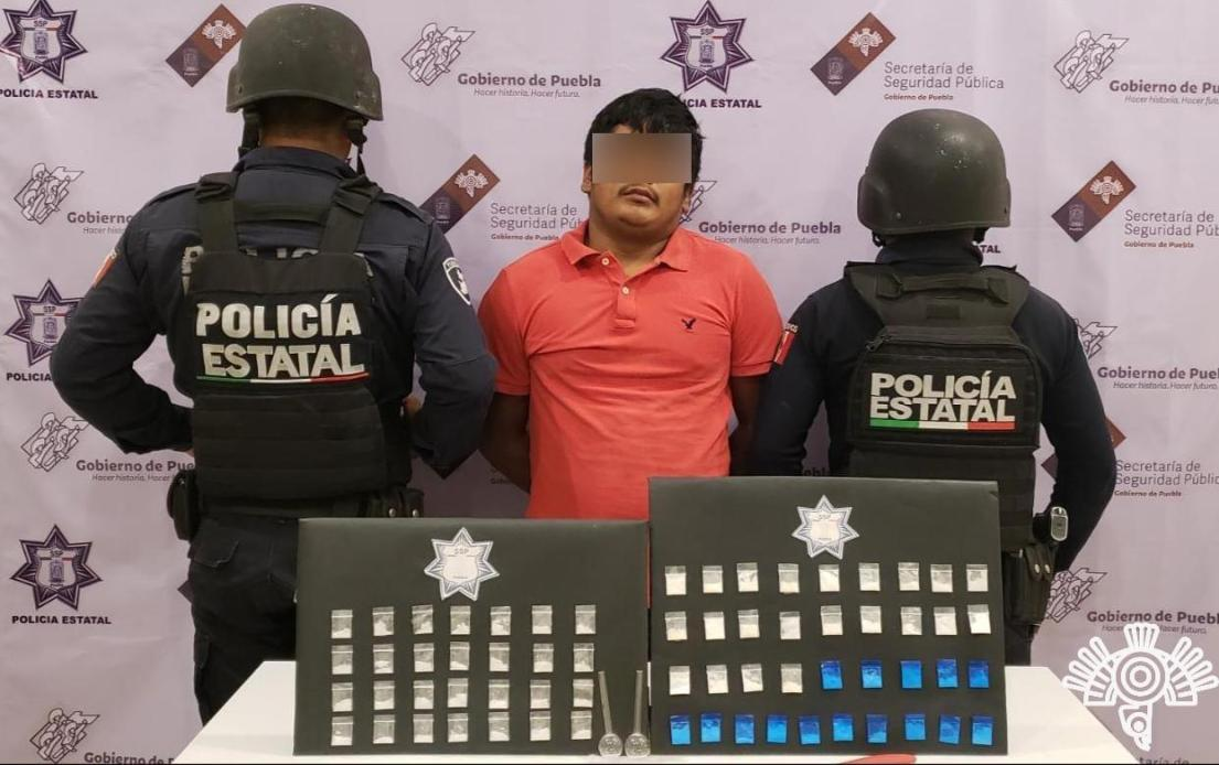 """CAPTURA POLICÍA ESTATAL A PRESUNTO INTEGRANTE DE LA BANDA DE """"EL CUBANO """" EN TEHUACÁN"""