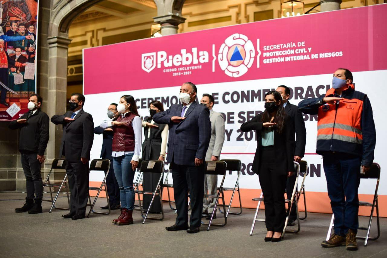 AYUNTAMIENTO DE PUEBLA CONMEMORA DÍA NACIONAL DE PROTECCIÓN CIVIL