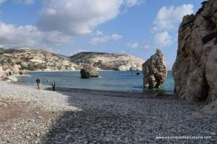 Along the beach at Aphrodite Rock Cyprus
