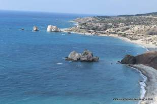 View of Aphrodite Rock Cyprus