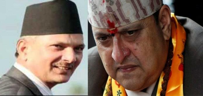 Gyanendra with Baburam