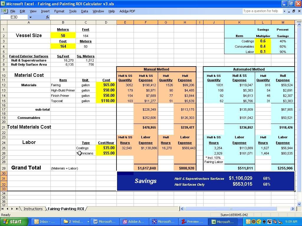 Return On Investment Worksheet