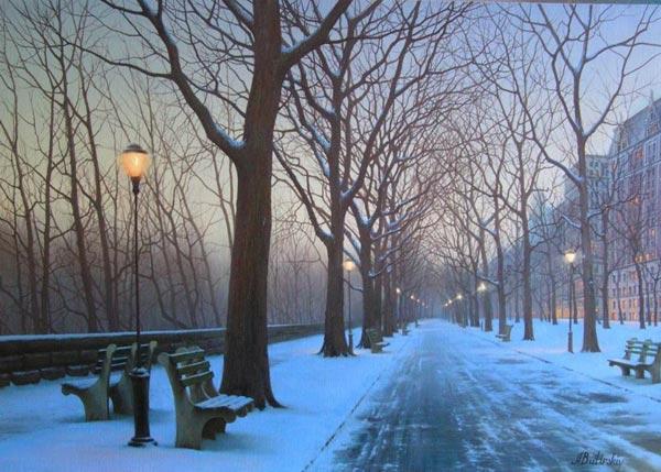 Вечерний зимний воздух