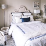 Bedroom Refresh Navy And White Bedding Visions Of Vogue