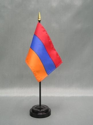 """Armenia Flag-4"""" x 6"""" Desk Flag-0"""